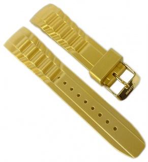 Calypso Ersatzband Kunststoff gelbgoldfarben Band Dornschließe K5650/8 K5650