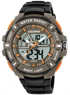 Calypso Armbanduhr PU-Band schwarz Kunststoff Quarzwerk Analog Digitaluhr K5769/1 K5769
