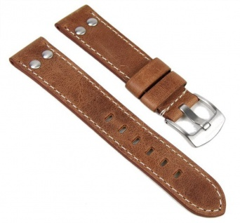 Minott Uhrenarmband Vintage Look Leder Band 24mm