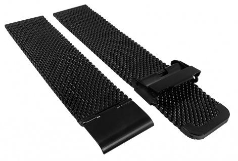 Minott Ersatzband Edelstahl Milanaise grob verstellbarer Verschluß schwarz
