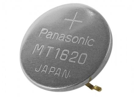 Panasonic Knopfzelle Akku Batterie MT1620 Lithium Ionen (LiIon) mit Fähnchen 34239