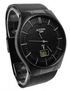 Armbanduhr | Quartz/Funkuhr aus Edelstahl IP Black | Milanaiseband Ø 39mm 36281