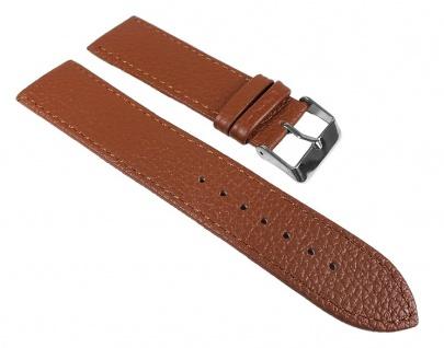 Minott Uhrenarmband Leder Band Braun 22mm 19906S