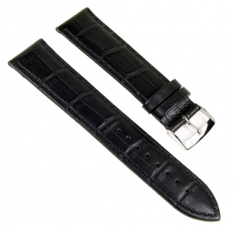 Morellato Bolle XL Uhrenarmband Kalbsleder Band schwarz 24mm