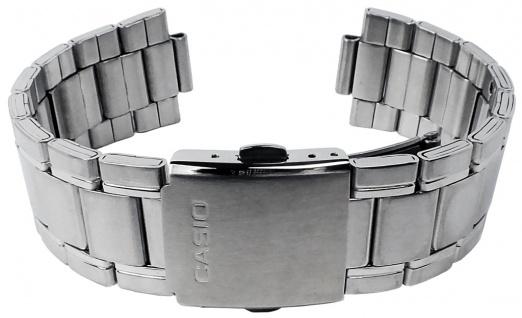 Casio Armband | Uhrenarmband Edelstahl Band Silberfarben für Collection MTP-1328BD