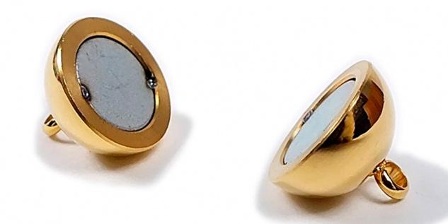Minott Magnetschließe - Verschluss für Ketten und Schmuck - Edelstahl PVD Gold poliert 22346