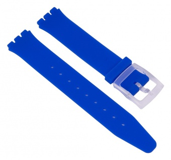 Minott Uhrenarmband Silikon Band Blau passend zu Swatch Uhren Skin 16 mm 27172