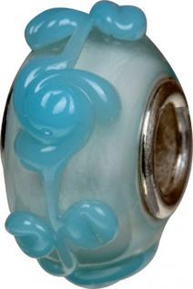 Charlot Borgen Marken Damen Bead Beads Drops Kristallglas Silberkern GPS-64Blau