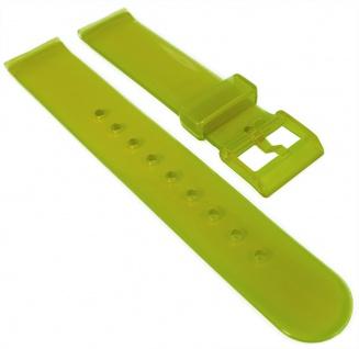 HIRSCH | Uhrenarmband 18mm > Kunststoff, grün > Dornschließe | transparent | 36680