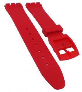 Minott Ersatzband 17mm Kunststoff rot flach passend zu Swatch