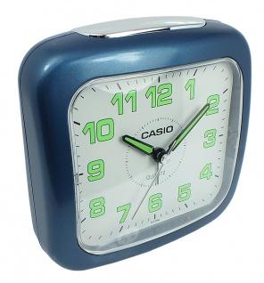 Casio Wecker blau Kunststoff Schlummerfunktion Acrylglas Glockenalarm TQ-359-2EF