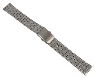 Minott Uhrenarmband Edelstahl Band Silberfarben matt/hochglanz 26874