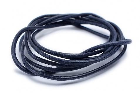 Minott Halskette Ziegenleder Lederriemen Lederband 100cm Dunkelblau 22088