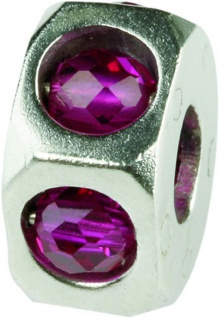 Charlot Borgen Marken Damen Bead Beads Drops Silber mit Zirkonia SCZ-18-Pink