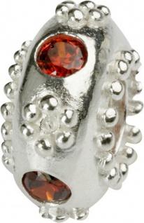Charlot Borgen Marken Damen Bead Beads Drops Silber mit Zirkonia SCZ-12-Rot