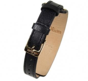 s.Oliver Uhrenarmband Leder Band 12mm schwarz SO-2013-LQ - Vorschau 2