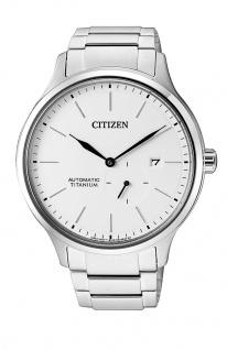 Citizen Automatik Herrenuhr analog mit kleiner Sekunde, Titan NJ0090-81A
