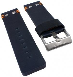 Police Copperhead Uhrenarmband Leder dunkelgrau 24mm mit Naht für P14374JS/03