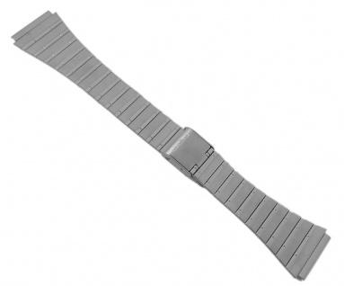 Casio Armband Uhrenarmband Edelstahl Band Silberfarben für Collection DBC-1500 DBC-3000 DBC-630