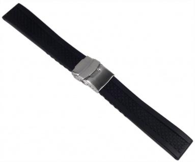 Minott Uhrenarmband Silikon Band 20mm schwarz 19909S