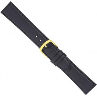 Uhrenarmband Ersatzband Leder Band Schwarz 26553G