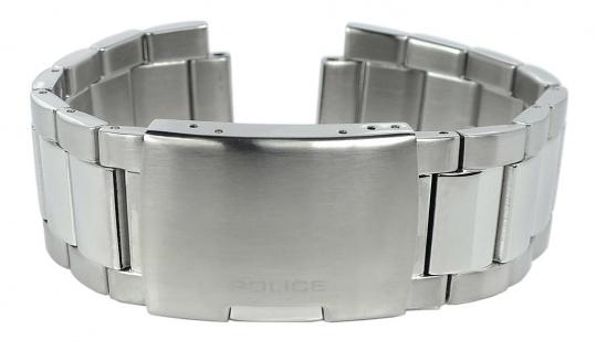 Police Kingsbridge Ersatzband 24mm Edelstahl Faltschließe silbern P.15471JS/02M