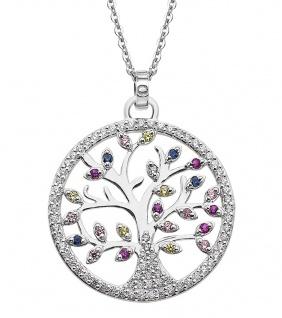 Lotus Silver Halsschmuck Collier Kette mit Lebensbaum Anhänger Silber LP1896-1/1