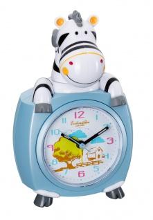Wecker Kinderwecker Alarm Analog Kunststoff blau mit schleichende Sekunde