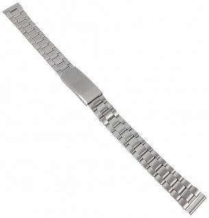 Minott Ersatzband - mattiert aus Edelstahl, silbern mit Faltschließe - 12mm 30617S