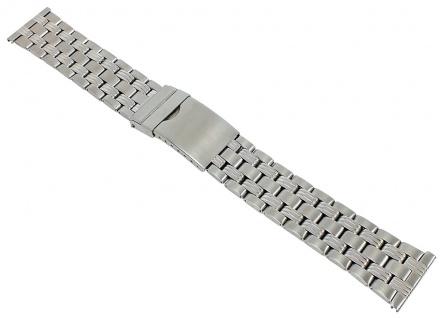 Minott Uhrenarmband 22mm Unisex Edelstahl Band silberfarben 29662S