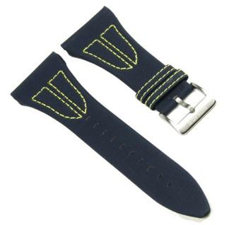 Police X-Matrix Uhrenarmband Nylon/Leder Band Blau für PL10974JS/04