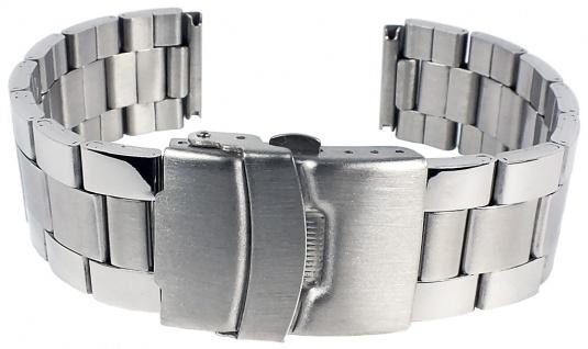 Minott Uhrenarmband Edelstahl Band Silberfarben matt 18mm SG-25361