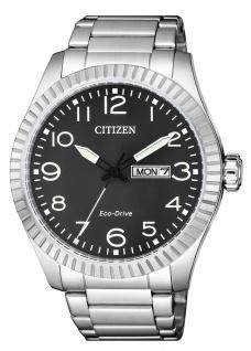 Citizen Eco-Drive Herren Solaruhr Edelstahlband silberfarben 10 bar BM8530-89E