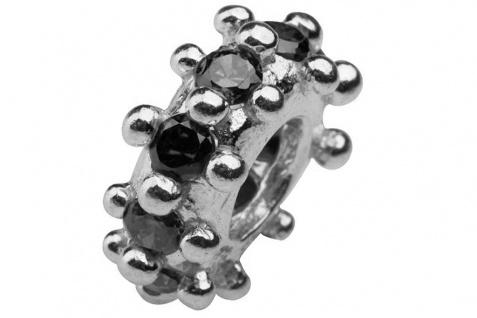 Charlot Borgen Marken Damen Bead Beads Drops Silber mit Zirkonia SCZ-07-schwarz