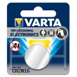 Varta Knopfzelle Batterie 3V Ersatzbatterie CR2016 Lithium für Armbanduhren 34287