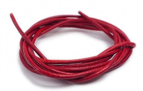 Minott Halskette Ziegenleder Lederriemen Lederband 100cm Rot 22084