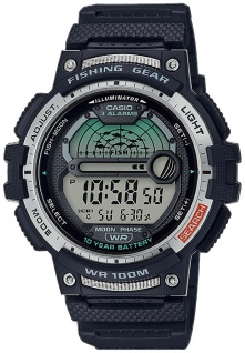 Casio Collection Digitaluhr schwarz Fishing Timer LED Light WS-1200H-1AVEF