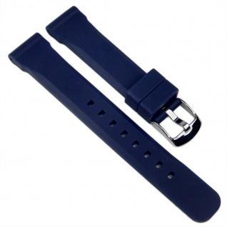 Minott Uhrenarmband Silikon Band Dunkelblau 18mm