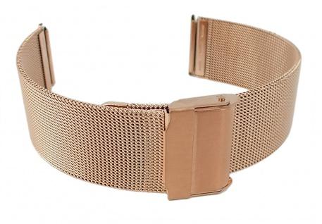 Minott Milanaise Ersatzband   Uhrenarmband aus Edelstahl in roségoldfarben mit verstellbarem Verschluss 30627R
