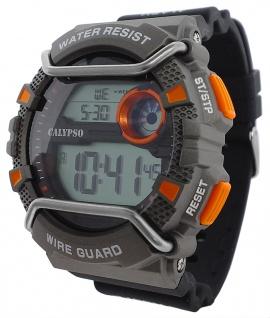 Calypso Herren Quarzuhr digital Kunststoff Silikonband grau/schwarz K5764/4