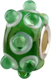Charlot Borgen Marken Damen Bead Beads Drops Kristallglas Silberkern GPS-45Grün