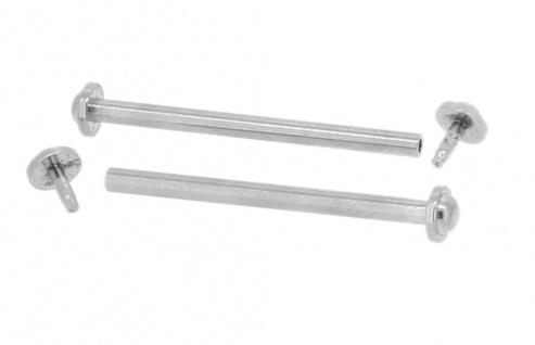 Minott Stifte 2x Uhrenstifte 16mm mit Nieten Bandstifte Ø 1, 3 Edelstahl silberfarben
