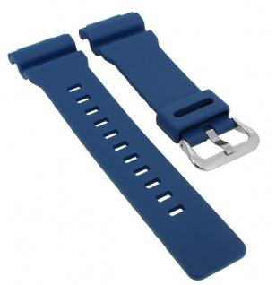 Casio G- Shock Ersatzband blau Resin Band Schließe silberfarben GA-800SC-2A > GA-800SC