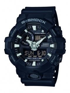 Casio G-Shock Herren Armbanduhr schwarz Resin Weltzeitfunktion GA-700-1BER