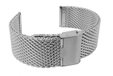 Minott Uhrenarmband Edelstahl Milanaise Band Silberfarben verstellbarer Verschluss - 27014S