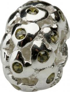 Charlot Borgen Marken Damen Bead Beads Drops Silber mit Zirkonia SCZ-24-Grün