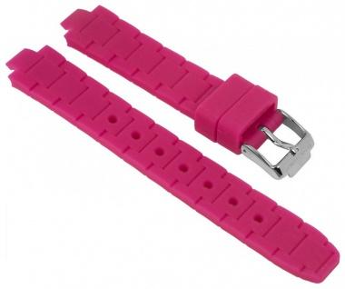 Jacques Lemans Uhrenarmband Silikon Band pink für Modell Milano 1-1709