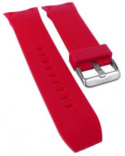 Calypso Ersatzband rot Kunststoff Breitdornschließe silberfarben Spezial Anstoß K5705/5 K5705