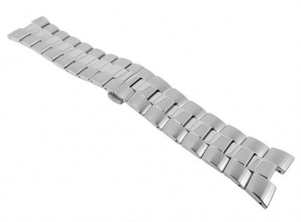 Jaqcues Lemans Uhrenarmband Edelstahl Band 27, 5mm Silberfarben 27241 für 1-1336