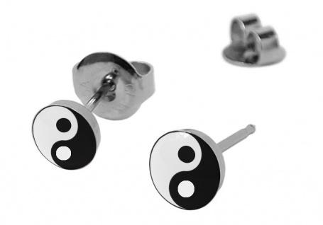 STUDEX Yin Yang Symbol Erstohrstecker Ohrschmuck Ohrringe Edelstahl 100 % Steril 21265